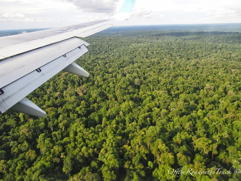 Puerto Iguazu Havalimanı'na yaklaşırken