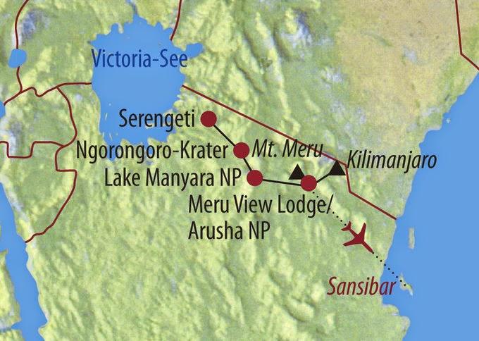 Rotamız (Kilimanjaro, Safari, Zanzibar)