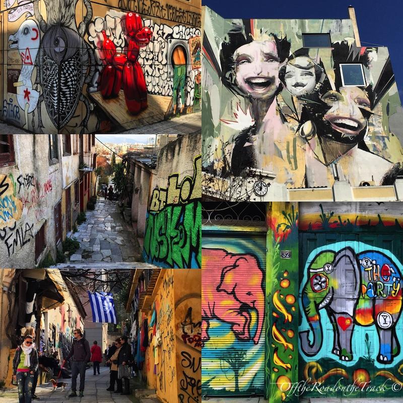 Atina sokaklarının renkli yüzü: Grafitiler