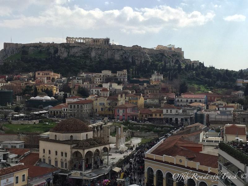 A for Athens otelinin terasından Akropolis manzarası
