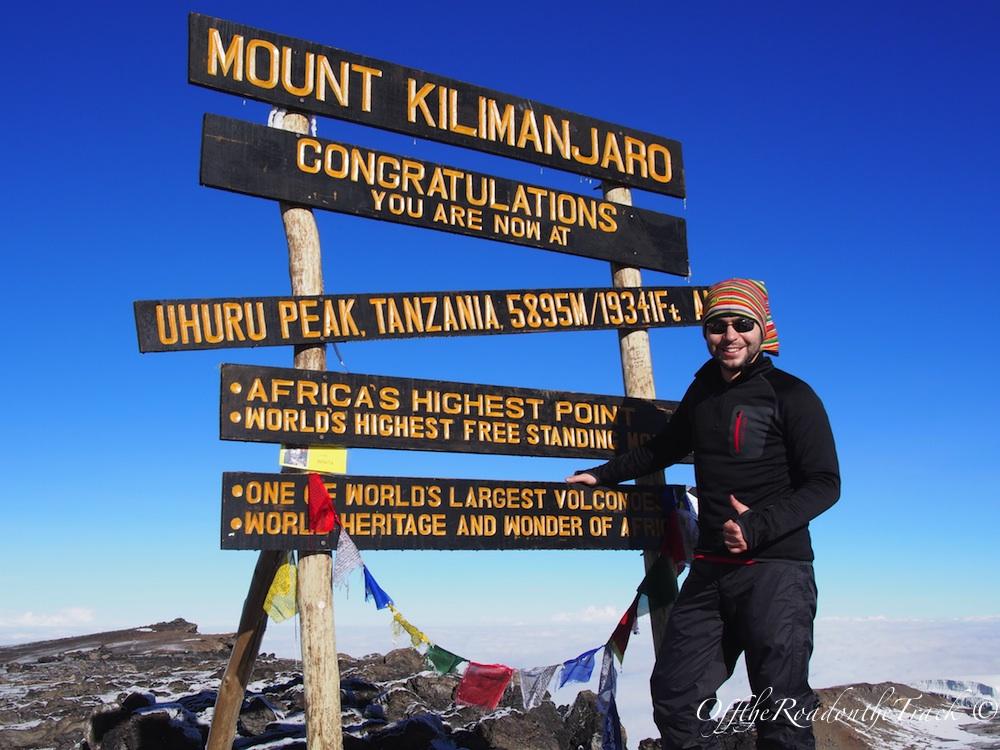 Top of Africa 5.895 metre