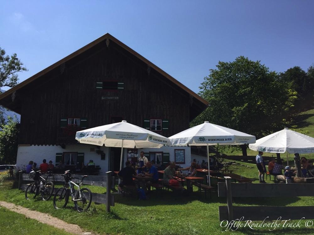 Höllenbachalm'de mola verdiğimiz dağ evi