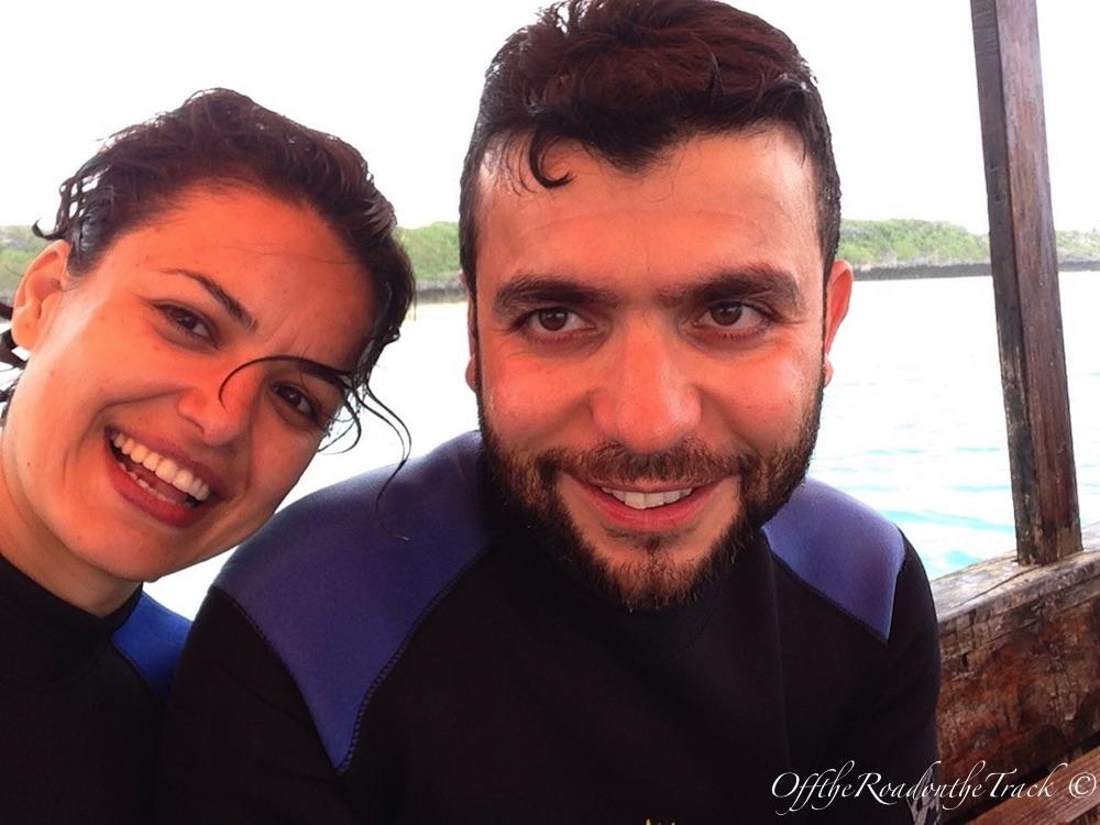 Zanzibar'da ilk defa dalış eğitimi aldık