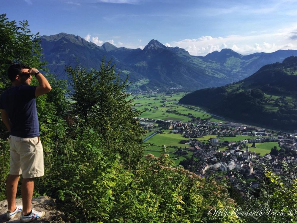 İsviçre Alplerine kuşbakışı