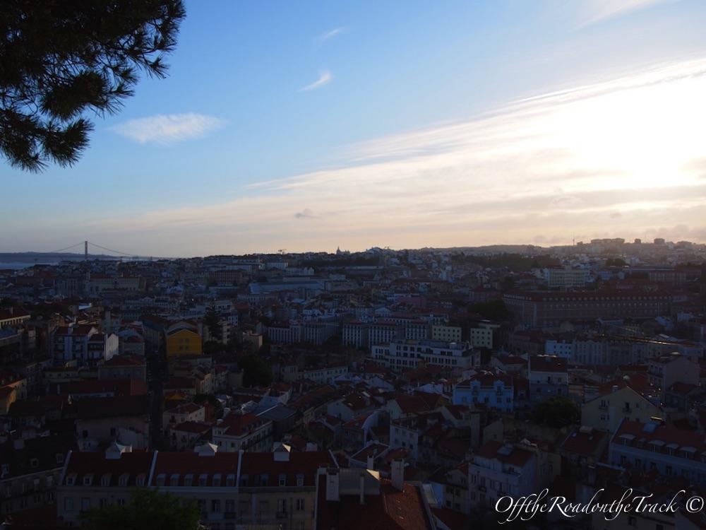 Lizbon'da gün batımı