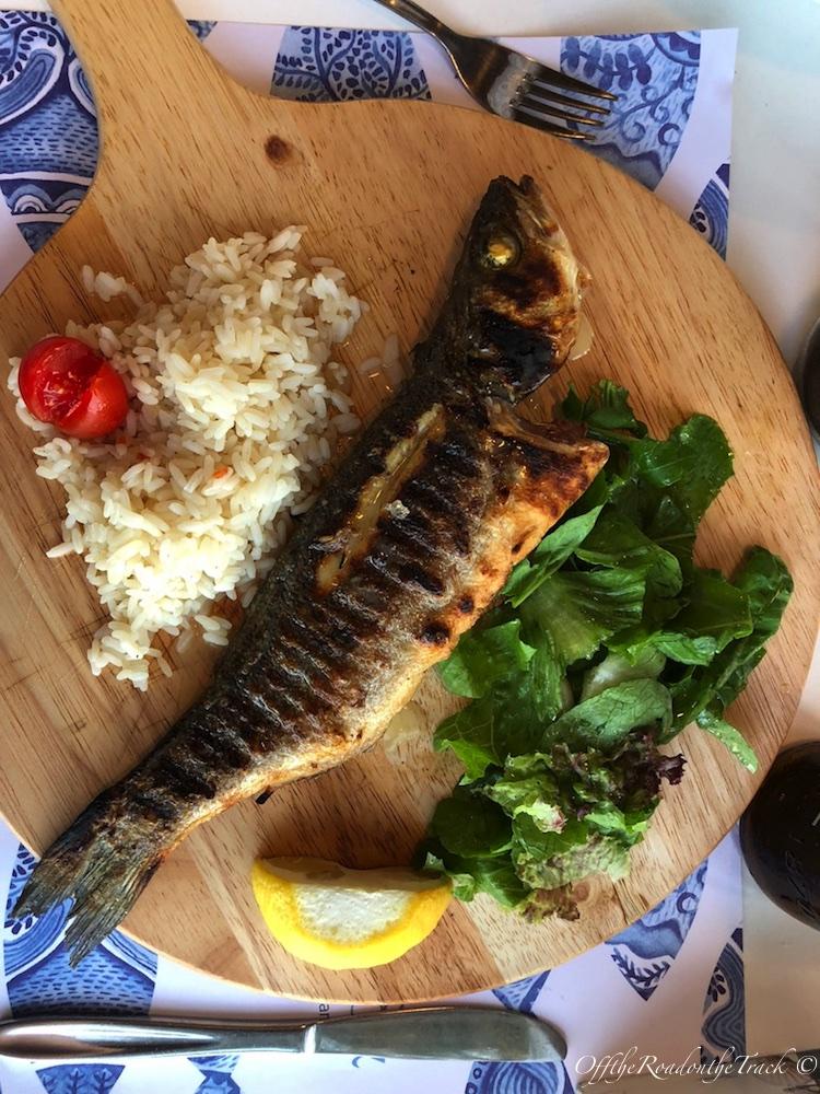 Fishalida'da yediğimiz balık